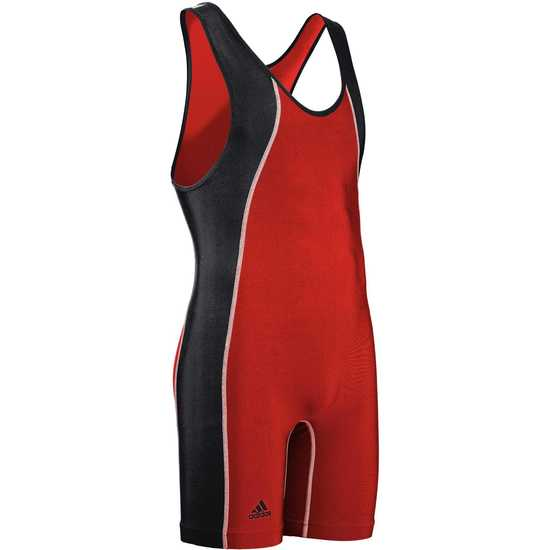 Adidas aS107s Wide Panel Singlet-Red-Black