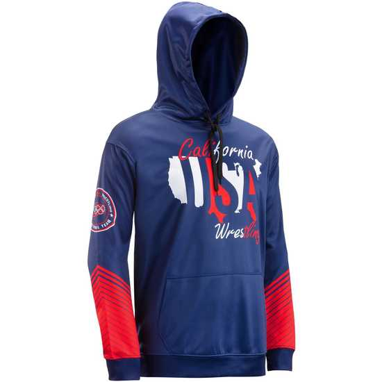 WrestlingMart CAUSAW Never Fade Hoodie-Navy-Red