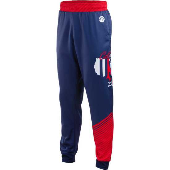 WrestlingMart CAUSAW Never Fade Jogger Pants-Navy-Red