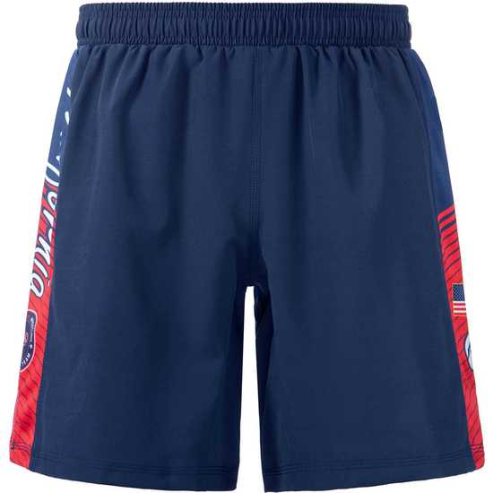 WrestlingMart CAUSAW Never Fade Performance Shorts-Navy-Red