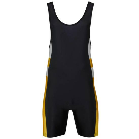 Matman Eclipse Singlet Black Yellow