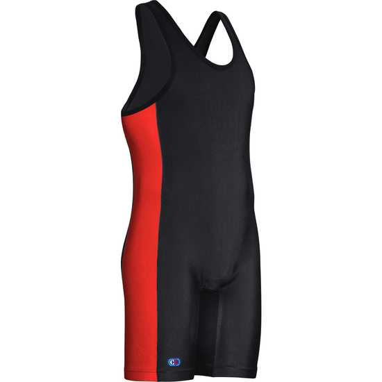 Guillotine Singlet Black Red