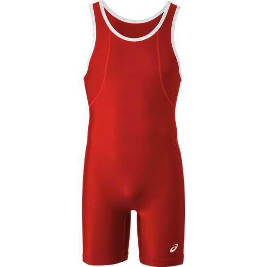 ASICS Restrained Wrestling Singlet Red