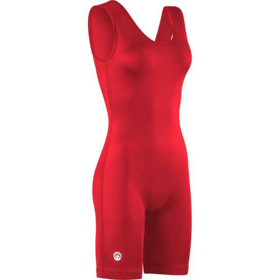 WrestlingMart Womens Standard Issue Singlet- Red