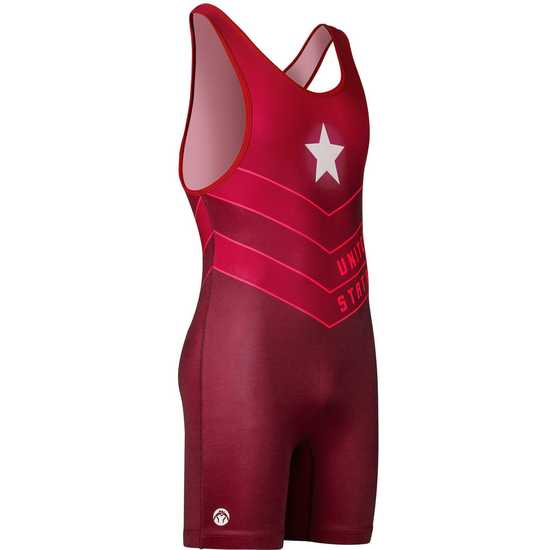 WM Sentinel Wrestling Singlet Red