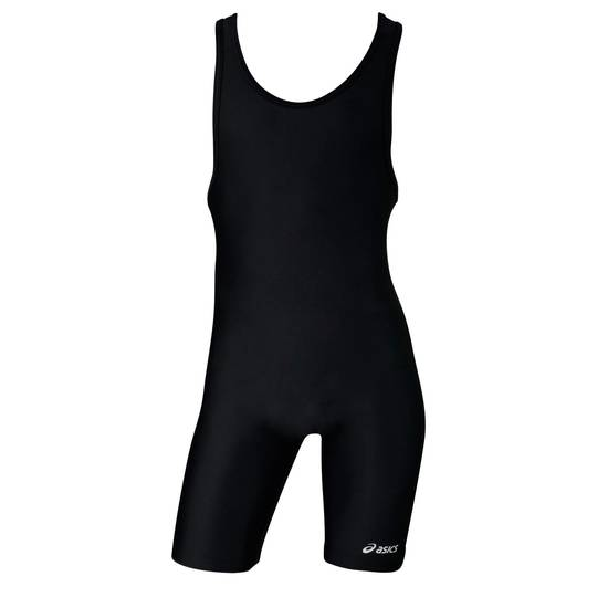 Black Solid Modified ASICS Singlet