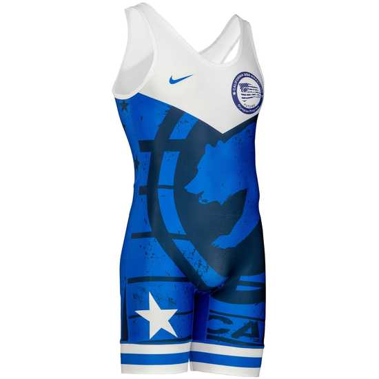 CAUSAW 2020 Cali Mens Singlet-Navy-White