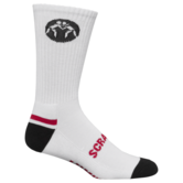 WrestlingMart Wrestling Sock White  white black outside