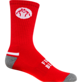 WrestlingMart Wrestling Sock  red white grey main