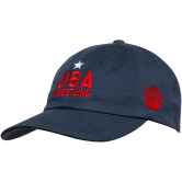 Wm Star USA Low Profile Hat  navy red main
